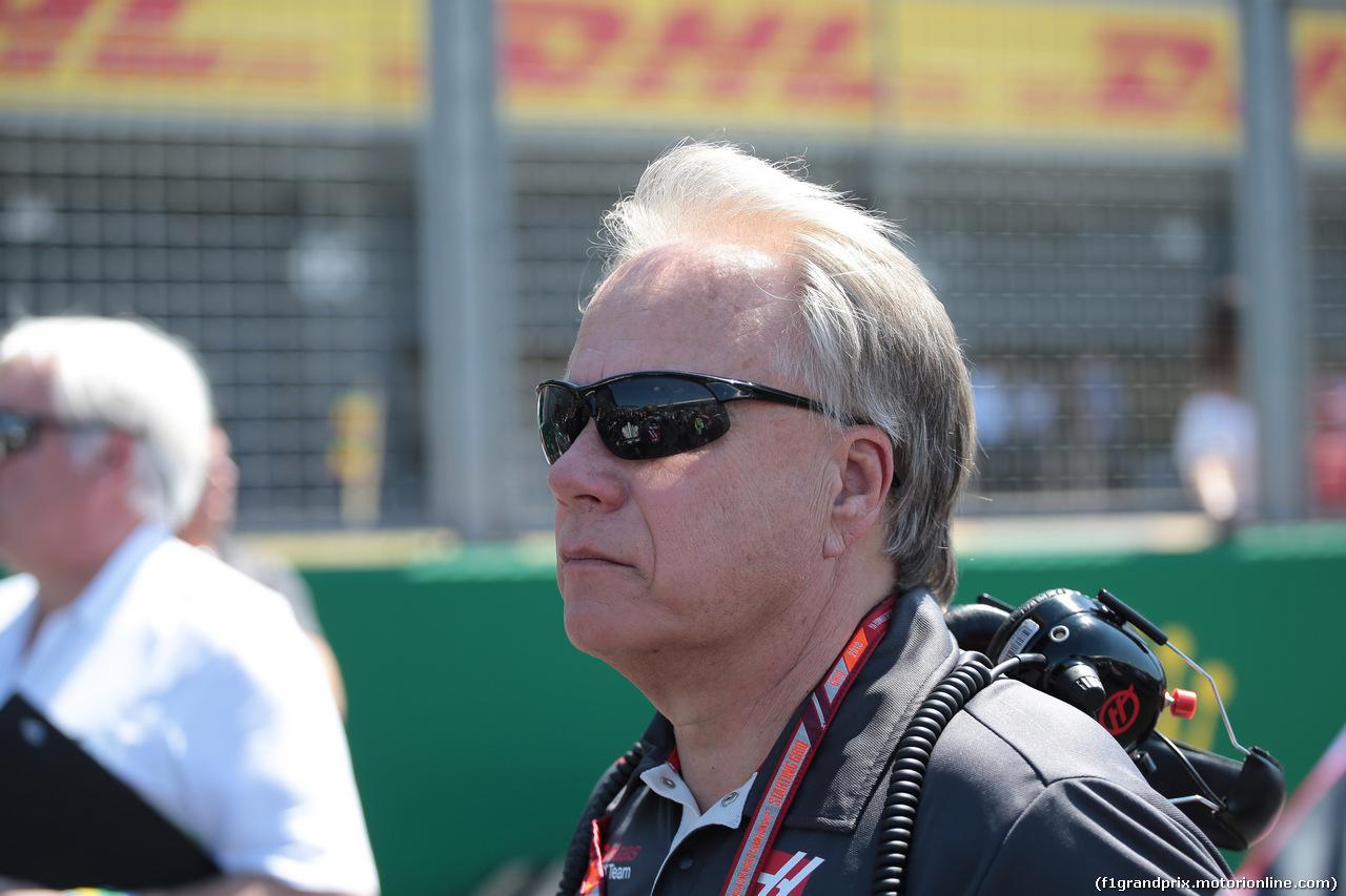 GP GRAN BRETAGNA, 08.07.2018- partenzaing grid, Gene Haas (USA) Owner Haas F1 Team