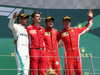 GP GRAN BRETAGNA, 08.07.2018- Podium, winner Sebastian Vettel (GER) Ferrari SF71H, 2nd Lewis Hamilton (GBR) Mercedes AMG F1 W09 3rd Kimi Raikkonen (FIN) Ferrari SF71H