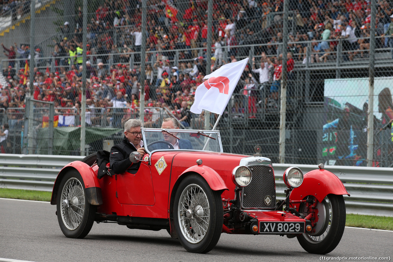 GP ITALIA, 02.09.2018 - Drivers parade, Ross Brawn (GBR) Formula One Managing Director of Motorsports e Sean Bratches, Formula 1 Managing Director, Commercial Operations
