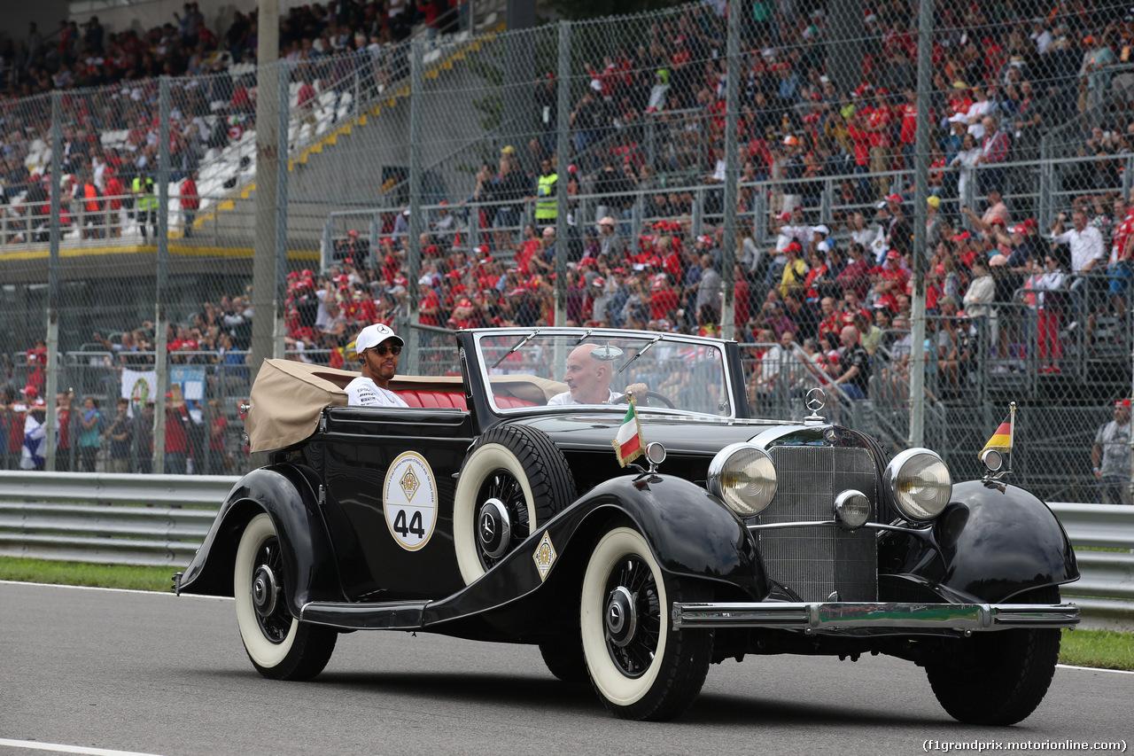 GP ITALIA, 02.09.2018 - Drivers parade, Lewis Hamilton (GBR) Mercedes AMG F1 W09
