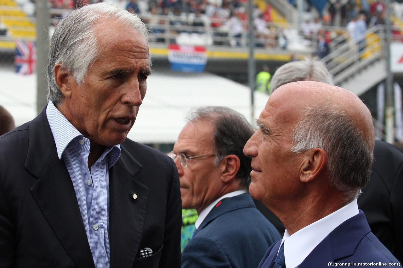 GP ITALIA, 02.09.2018 - Drivers parade, Giovanni Malagò, CONI President e Dr. Angelo Sticchi Damiani (ITA) Aci Csai President