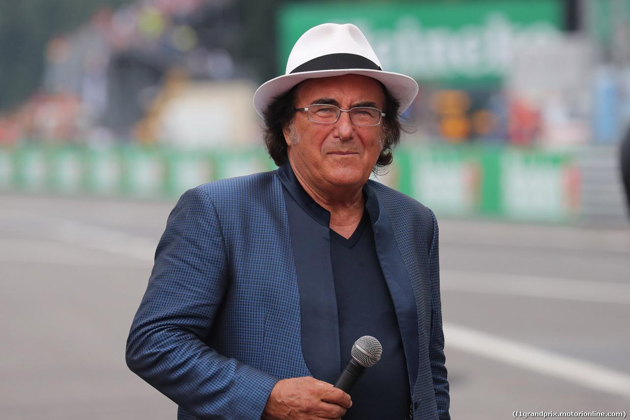 GP ITALIA, 02.09.2018 - Gara, Albano Carriisi (ITA), singer
