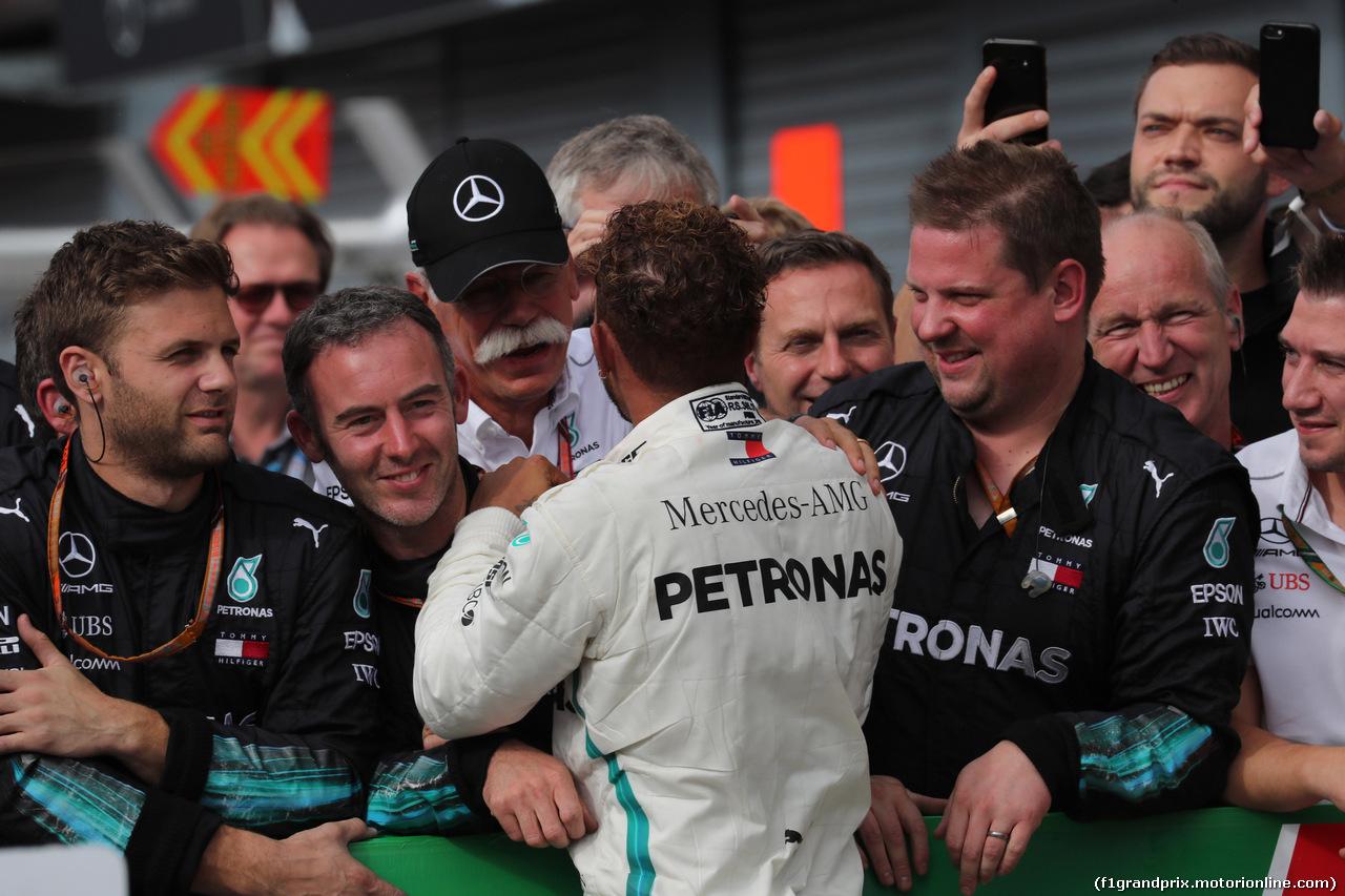 GP ITALIA, 02.09.2018 - Gara, Lewis Hamilton (GBR) Mercedes AMG F1 W09 vincitore with Dr. Dieter Zetsche, Chairman of Daimler