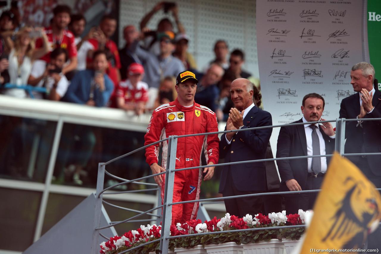 GP ITALIA, 02.09.2018 - Gara, 3rd place Kimi Raikkonen (FIN) Ferrari SF71H e Dr. Angelo Sticchi Damiani (ITA) Aci Csai President