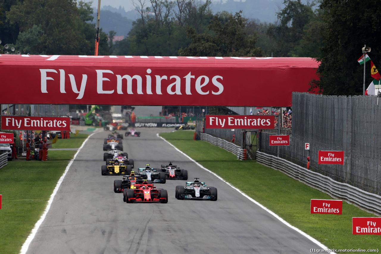 GP ITALIA, 02.09.2018 - Gara, Start of the race