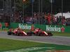 GP ITALIA, 02.09.2018 - Gara, Start of the race, Kimi Raikkonen (FIN) Ferrari SF71H e Sebastian Vettel (GER) Ferrari SF71H