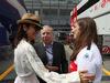 GP ITALIA, 02.09.2018 - Gara, Michelle Yeoh, wife of Jean Todt (FRA), Jean Todt (FRA), President FIA e Tatiana Calderón (COL) Jenzer Motorsport