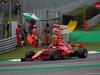 GP ITALIA, 02.09.2018 - Gara, Sebastian Vettel (GER) Ferrari SF71H with a winh front broken