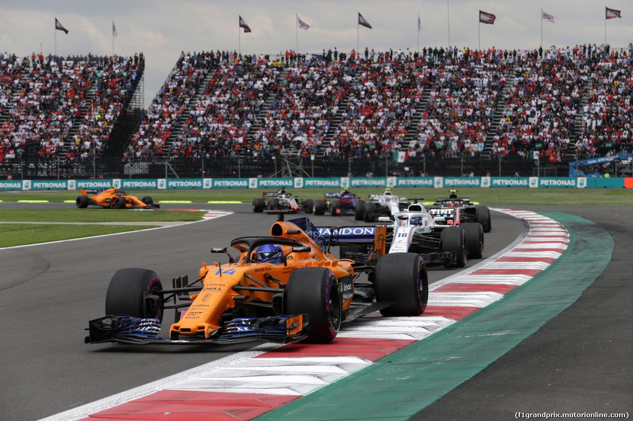 GP MESSICO, 28.10.2018 - Gara, Fernando Alonso (ESP) McLaren MCL33