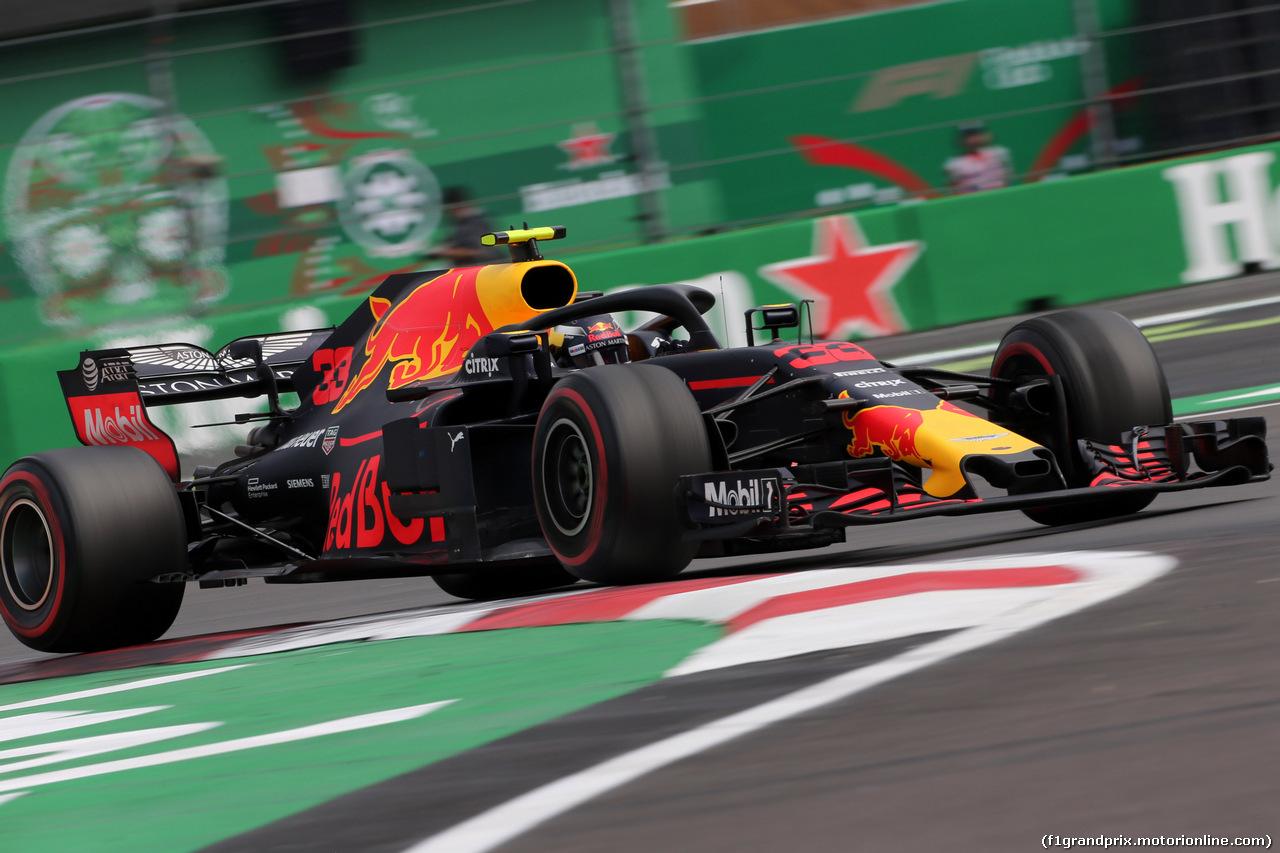 GP MESSICO, 28.10.2018 - Gara, Max Verstappen (NED) Red Bull Racing RB14