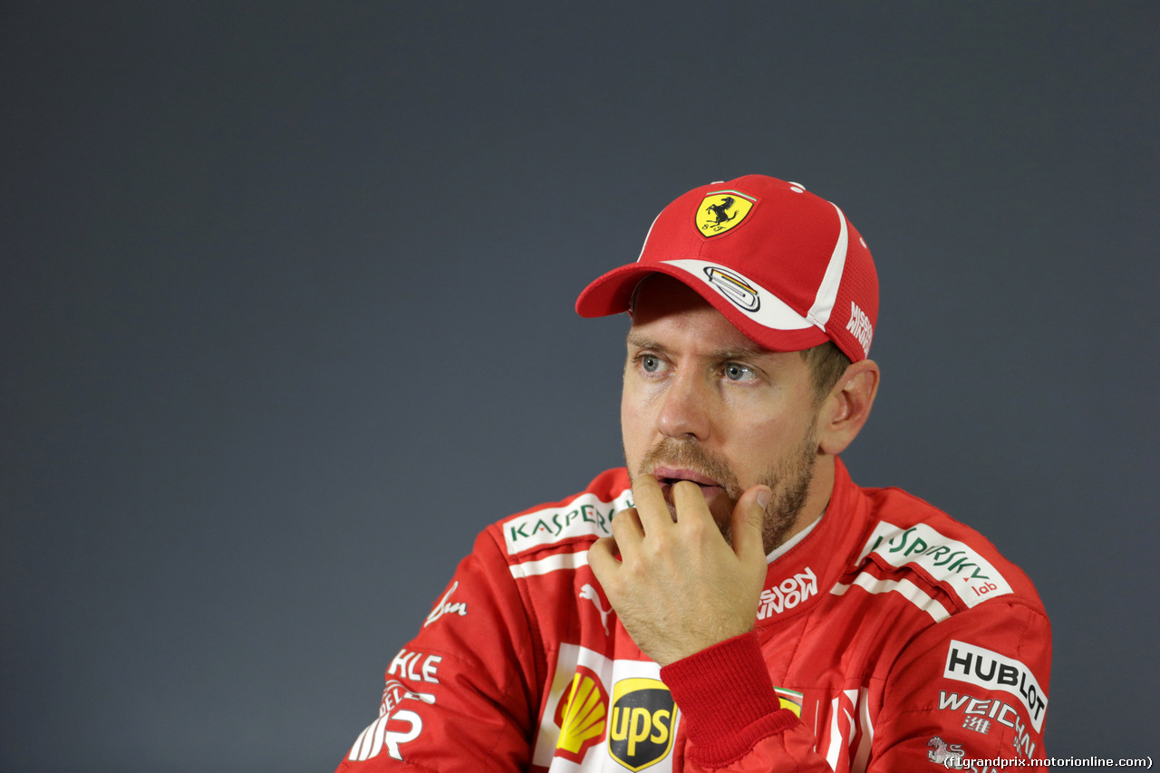 GP MESSICO, 28.10.2018 - Gara, Conferenza Stampa, Sebastian Vettel (GER) Ferrari SF71H