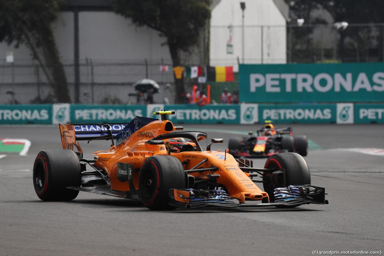 GP MESSICO, 28.10.2018 - Gara, Stoffel Vandoorne (BEL) McLaren MCL33