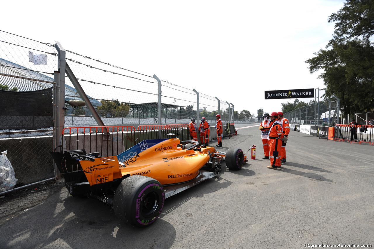 GP MESSICO, 28.10.2018 - Gara, Fernando Alonso (ESP) McLaren MCL33 retires from the race