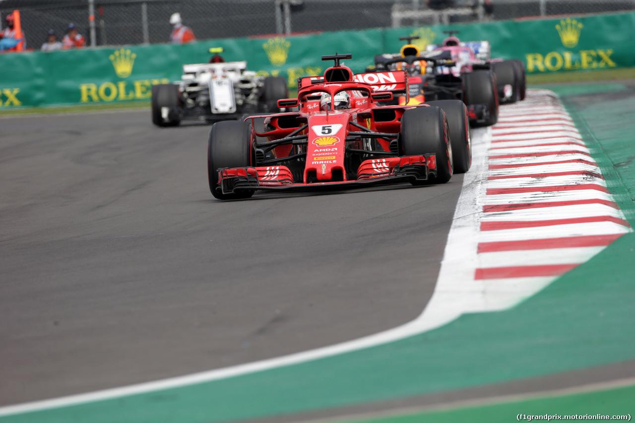 GP MESSICO, 28.10.2018 - Gara, Sebastian Vettel (GER) Ferrari SF71H