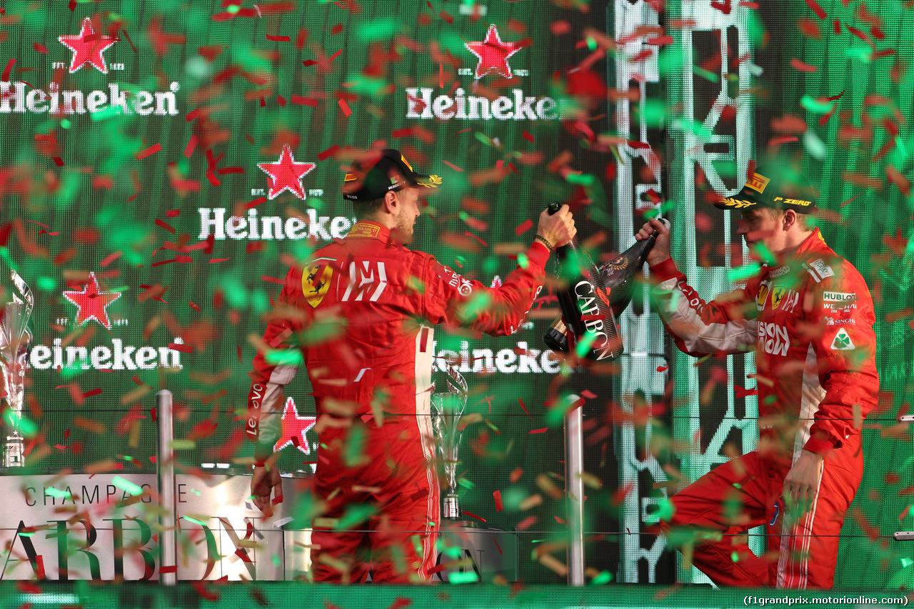 GP MESSICO, 28.10.2018 - Gara, 2nd place Sebastian Vettel (GER) Ferrari SF71H e 3à Kimi Raikkonen (FIN) Ferrari SF71H