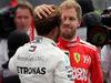 GP MESSICO, 28.10.2018 - Gara, Lewis Hamilton (GBR) Mercedes AMG F1 W09, Champion F1 2018 with Sebastian Vettel (GER) Ferrari SF71H