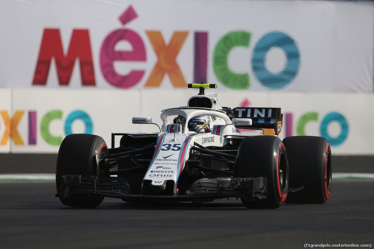 GP MESSICO, 26.10.2018 - Prove Libere 1, Sergey Sirotkin (RUS) Williams FW41