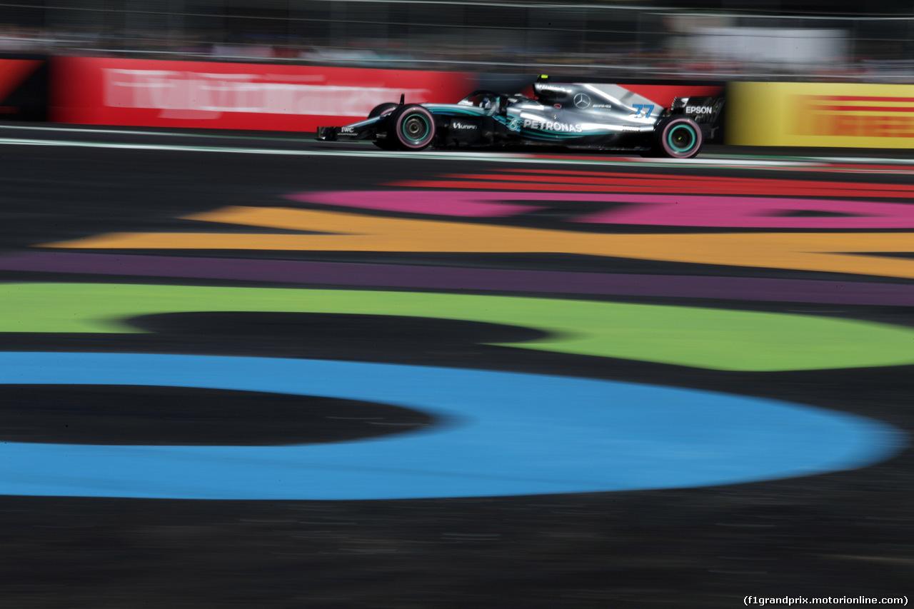GP MESSICO, 26.10.2018 - Prove Libere 1, Valtteri Bottas (FIN) Mercedes AMG F1 W09