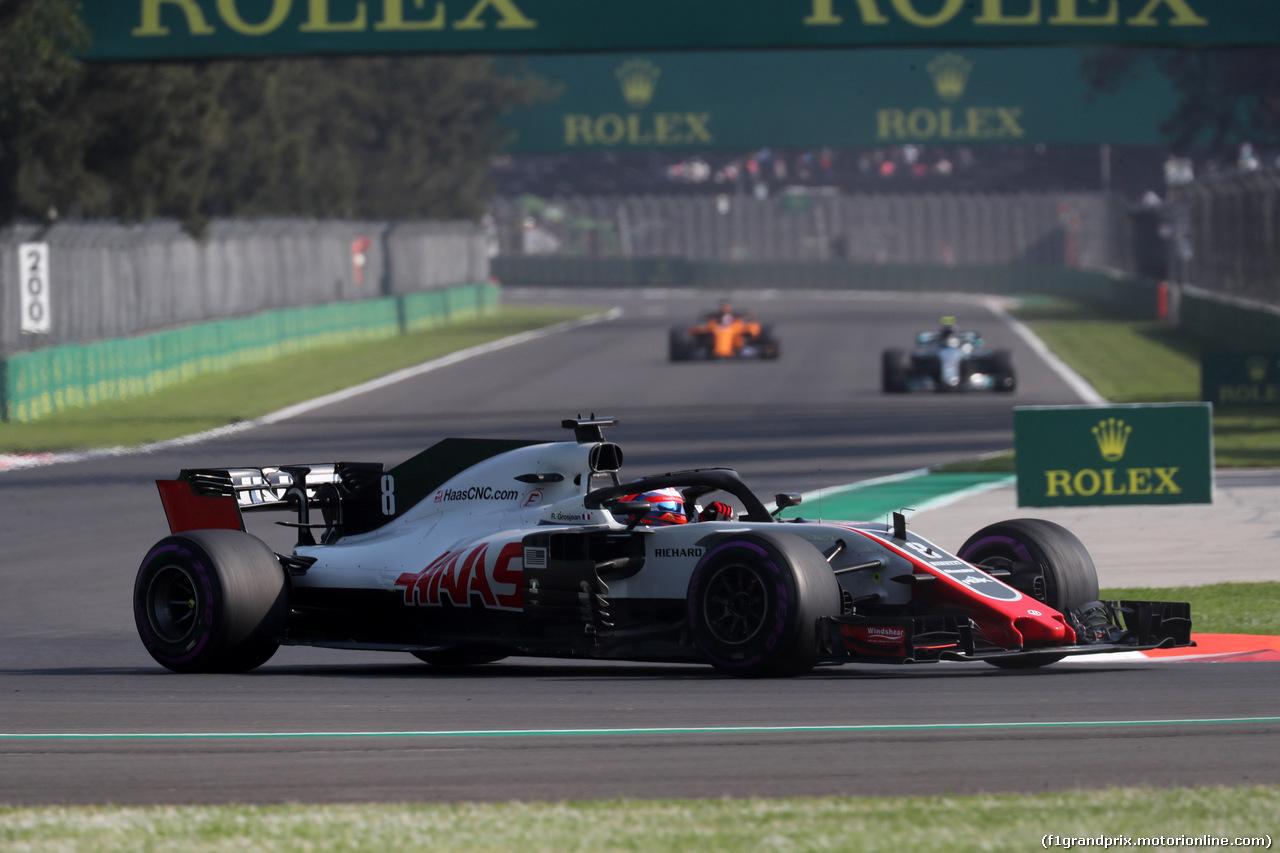 GP MESSICO, 26.10.2018 - Prove Libere 1, Romain Grosjean (FRA) Haas F1 Team VF-18