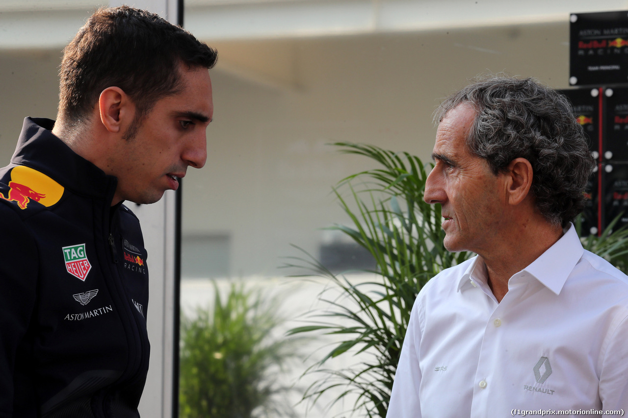 GP MESSICO, 26.10.2018 - Prove Libere 1, Sébastien Buemi (CHE) Test driver, Red Bull Racing RB14 with Alain Prost (FRA) Renault Sport F1 Team Special Advisor