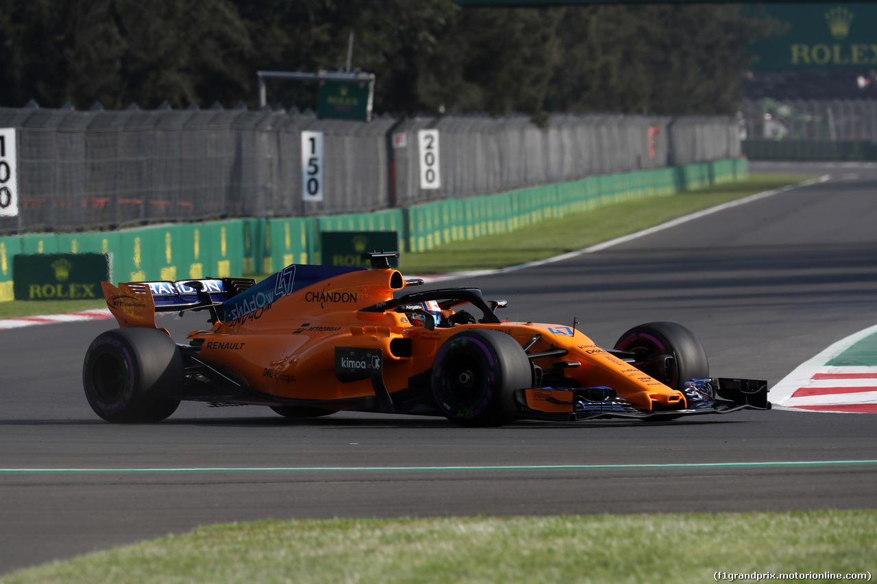 GP MESSICO, 26.10.2018 - Prove Libere 1, Fernando Alonso (ESP) McLaren MCL33