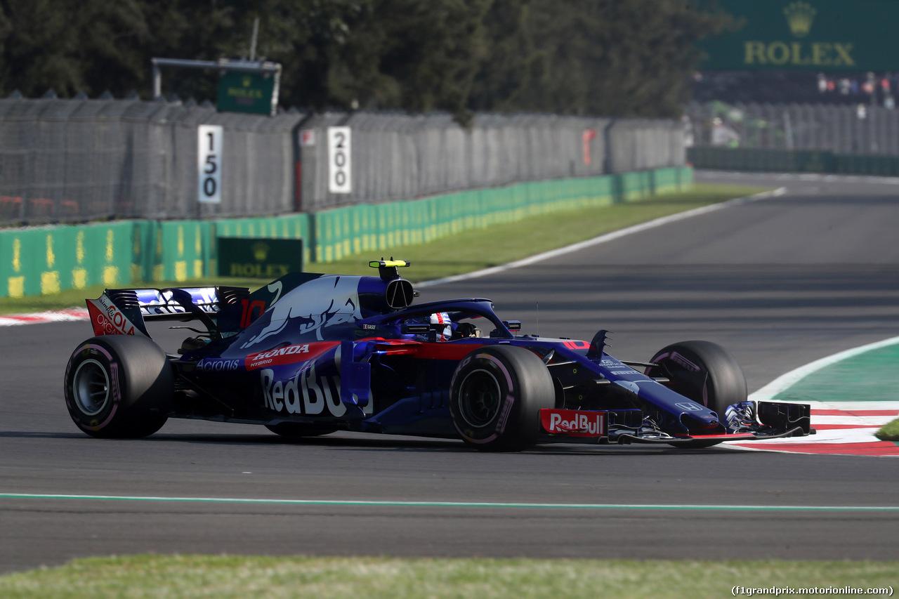 GP MESSICO, 26.10.2018 - Prove Libere 1, Pierre Gasly (FRA) Scuderia Toro Rosso STR13