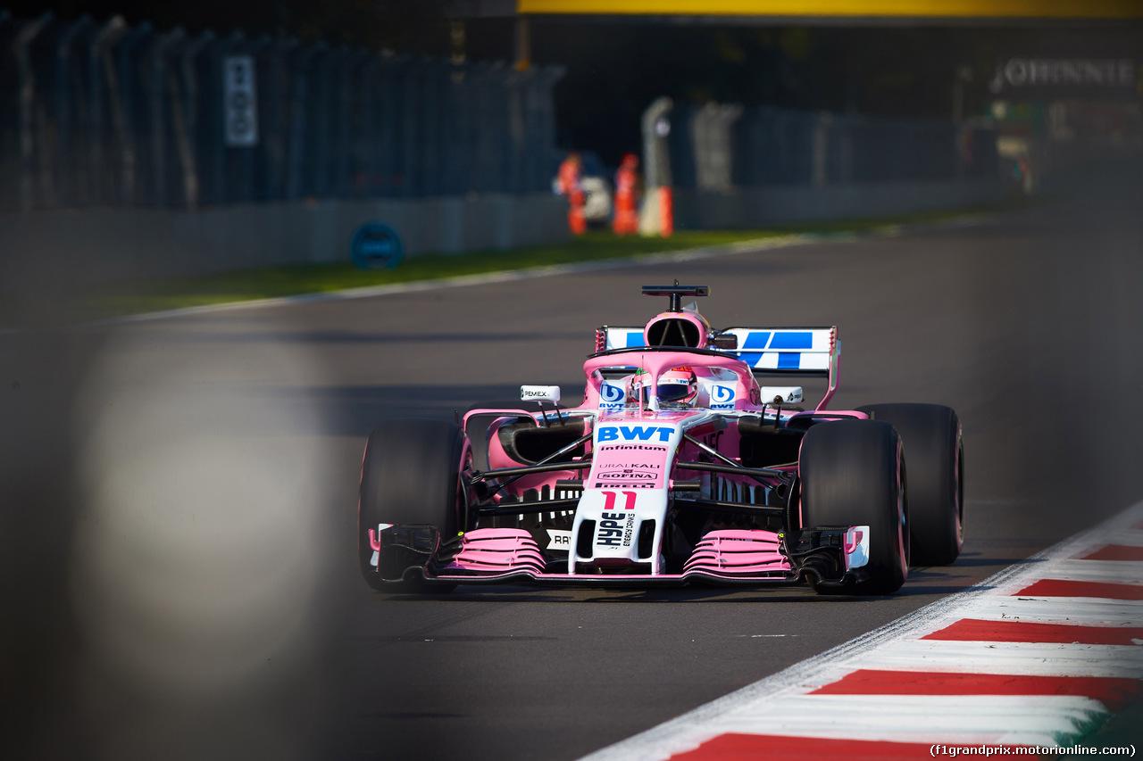 GP MESSICO, 26.10.2018 - Prove Libere 1, Sergio Perez (MEX) Racing Point Force India F1 VJM11