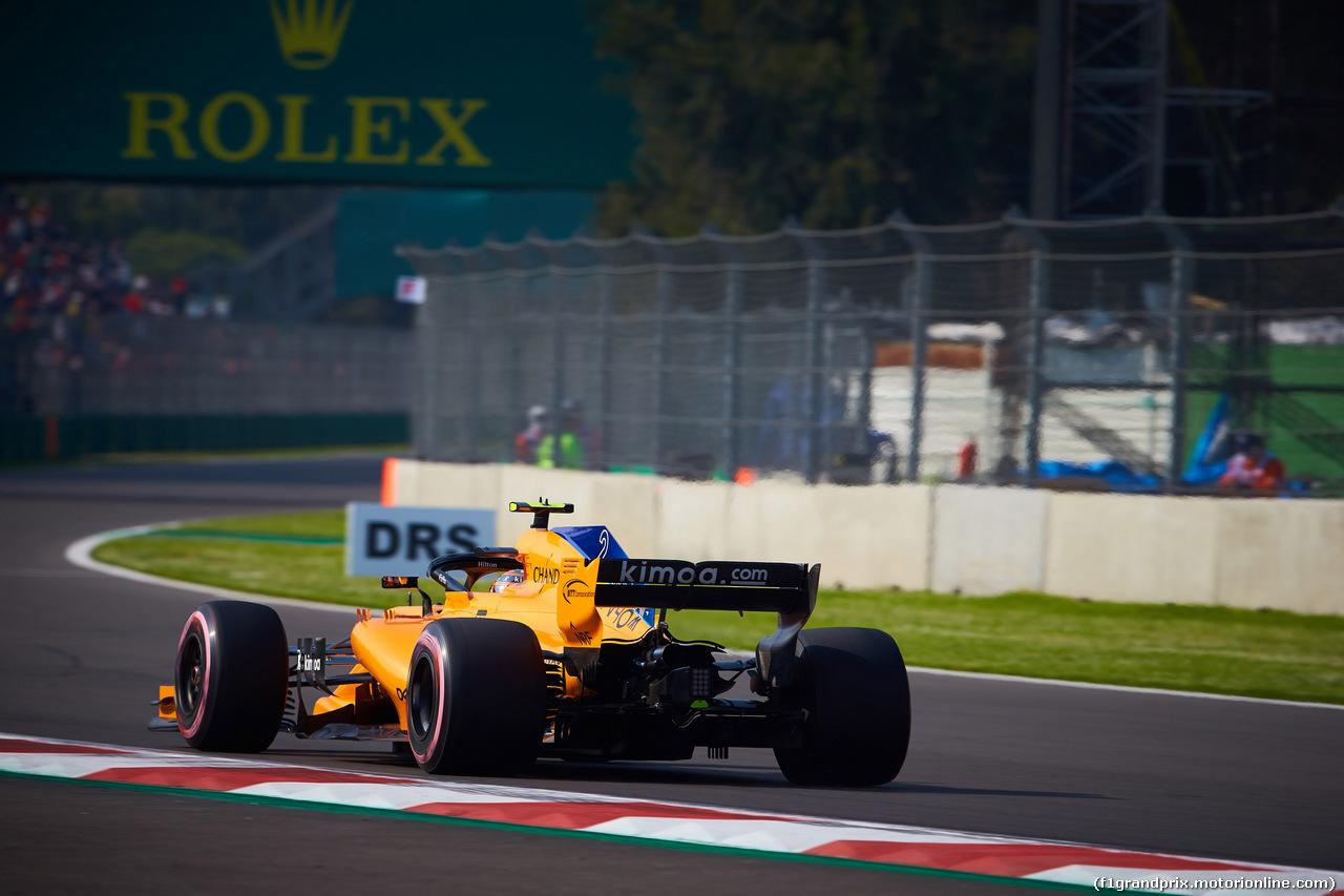 GP MESSICO, 26.10.2018 - Prove Libere 1, Stoffel Vandoorne (BEL) McLaren MCL33