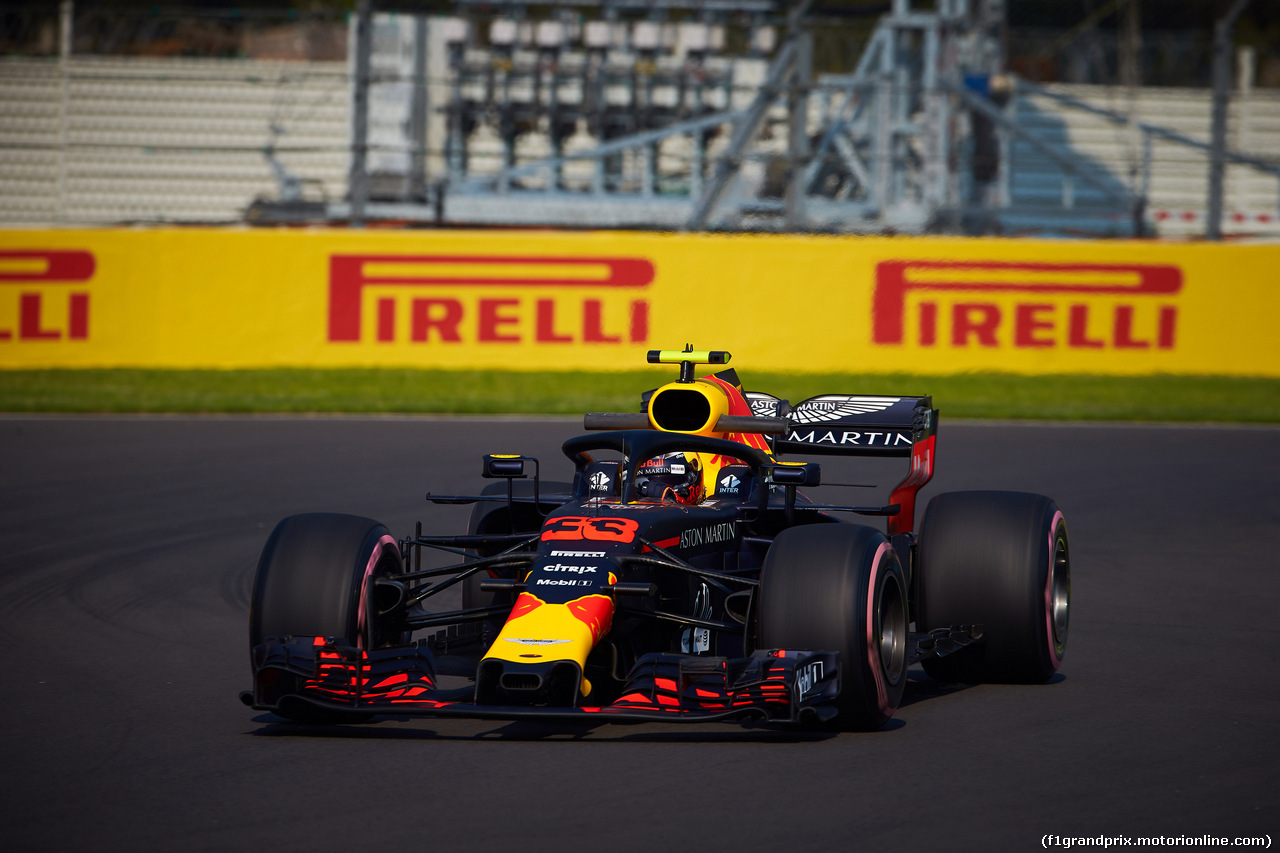 GP MESSICO, 26.10.2018 - Prove Libere 1, Max Verstappen (NED) Red Bull Racing RB14