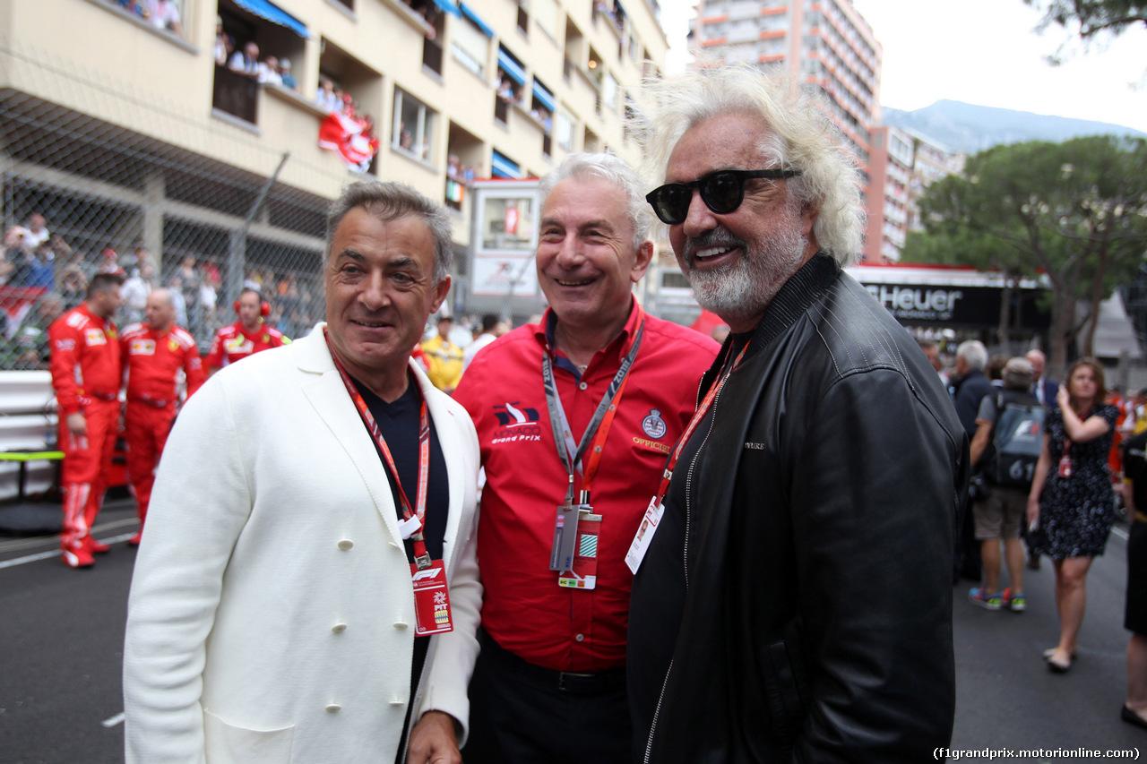 GP MONACO, 27.05.2018 - Gara, Jean Alesi (FRA) e Flavio Briatore (ITA)
