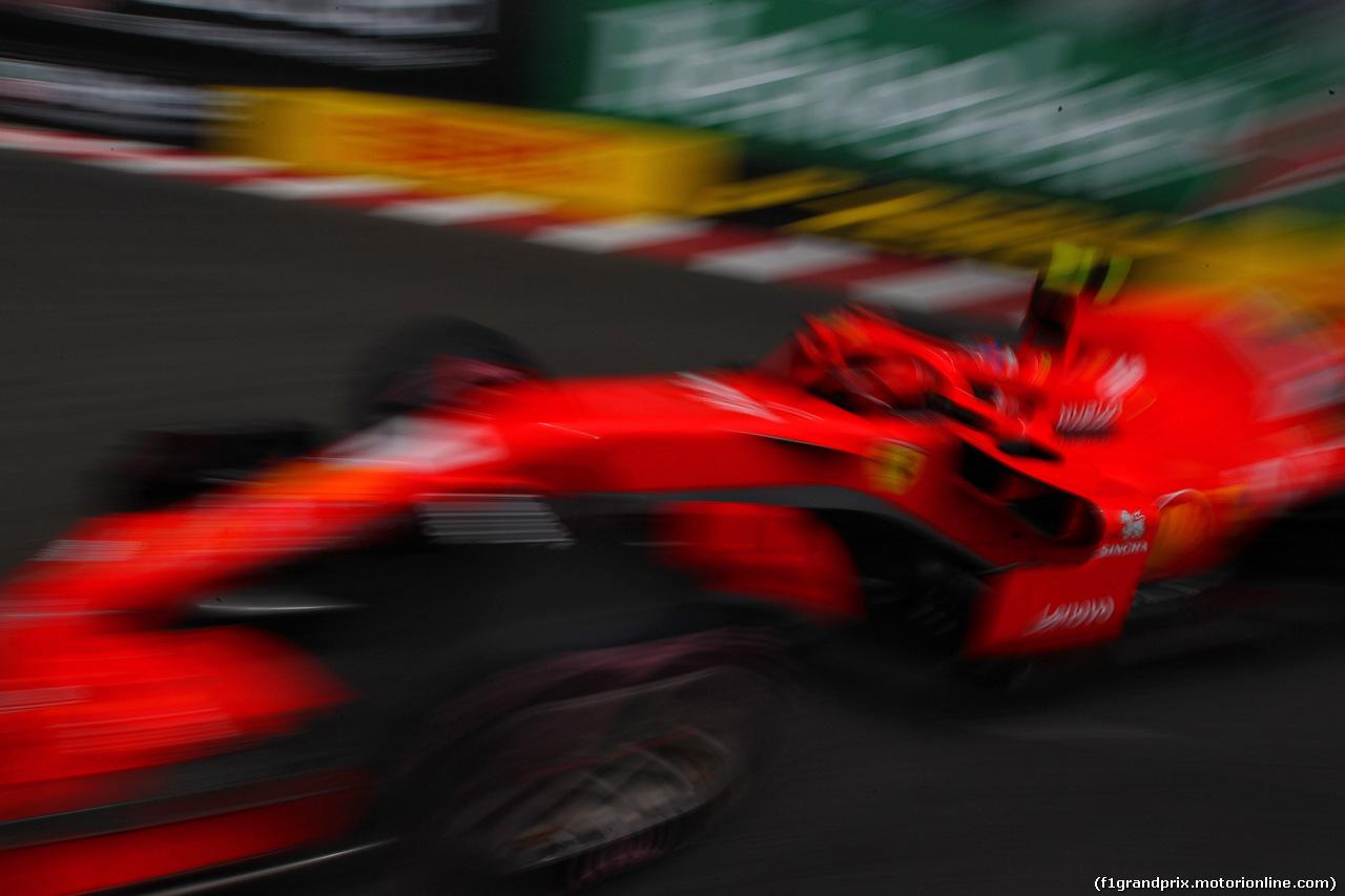 GP MONACO, 24.05.2018 - Prove Libere 1, Kimi Raikkonen (FIN) Ferrari SF71H