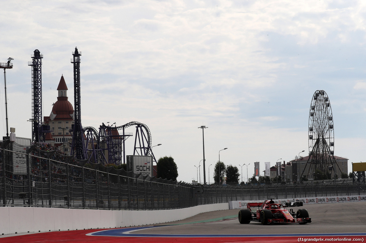 GP RUSSIA, 30.09.2018 - Gara, Sebastian Vettel (GER) Ferrari SF71H