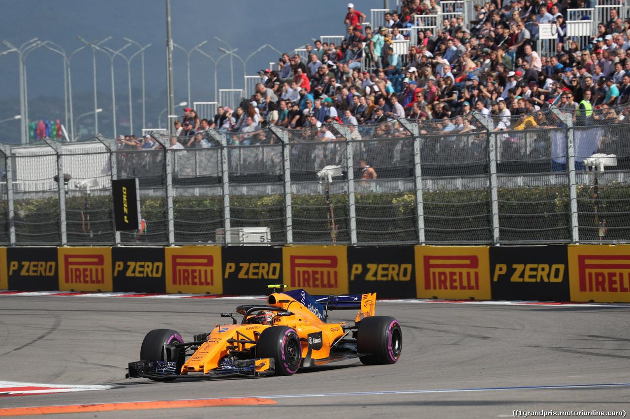 GP RUSSIA, 30.09.2018 - Gara, Stoffel Vandoorne (BEL) McLaren MCL33