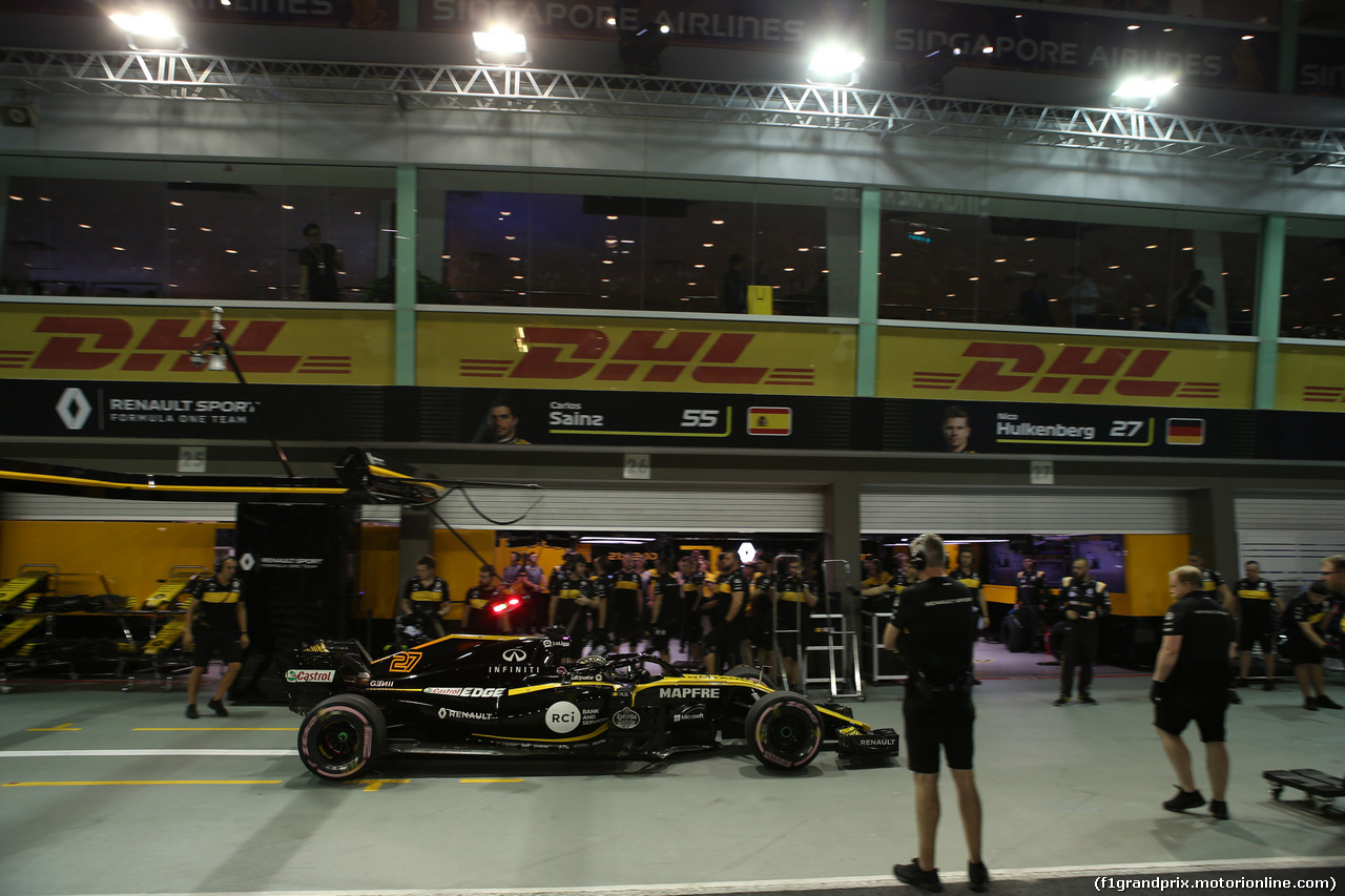 GP SINGAPORE, 15.09.2018 - Qualifiche, Nico Hulkenberg (GER) Renault Sport F1 Team RS18