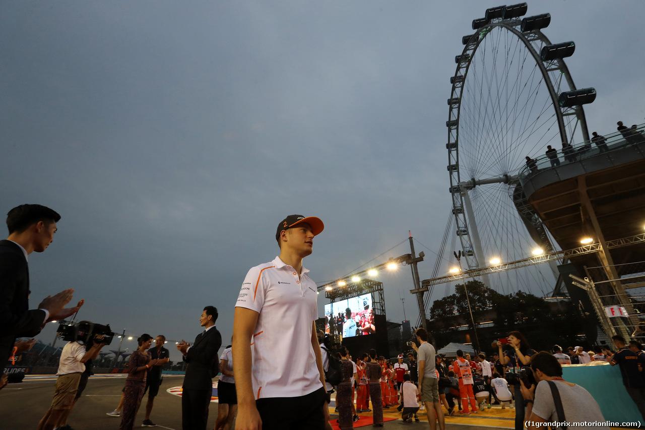 GP SINGAPORE, 16.09.2018 - Stoffel Vandoorne (BEL) McLaren MCL33
