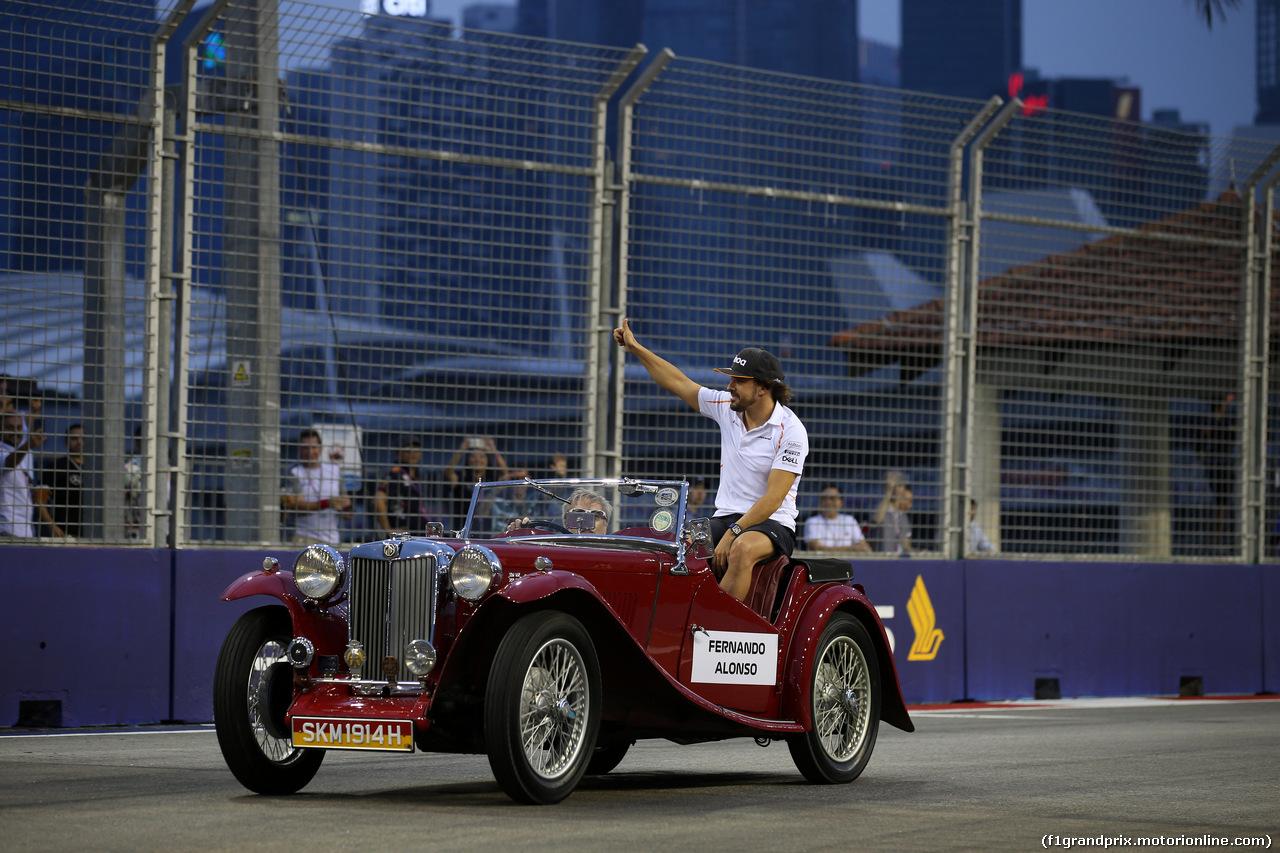 GP SINGAPORE, 16.09.2018 - Fernando Alonso (ESP) McLaren MCL33