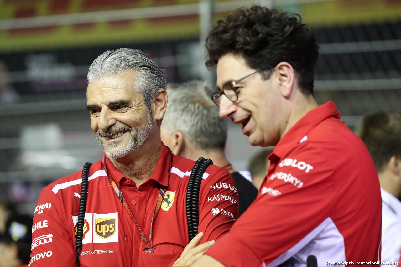 GP SINGAPORE, 16.09.2018 - Gara, Maurizio Arrivabene (ITA) Ferrari Team Principal e Mattia Binotto (ITA) Chief Technical Officer, Ferrari