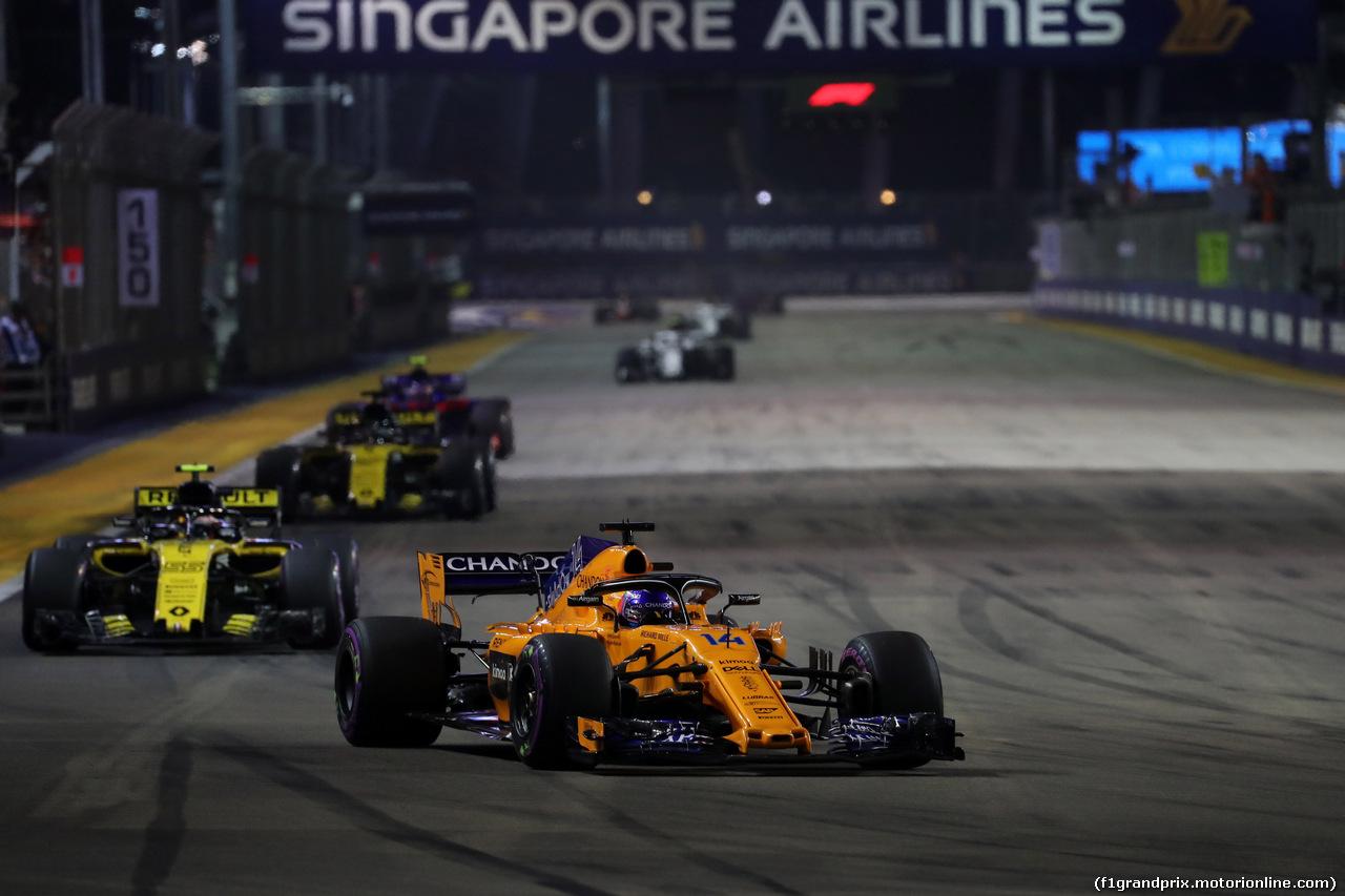 GP SINGAPORE, 16.09.2018 - Gara, Fernando Alonso (ESP) McLaren MCL33