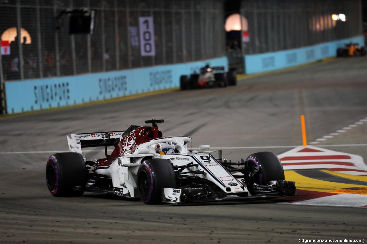 GP SINGAPORE, 16.09.2018 - Gara, Marcus Ericsson (SUE) Sauber C37