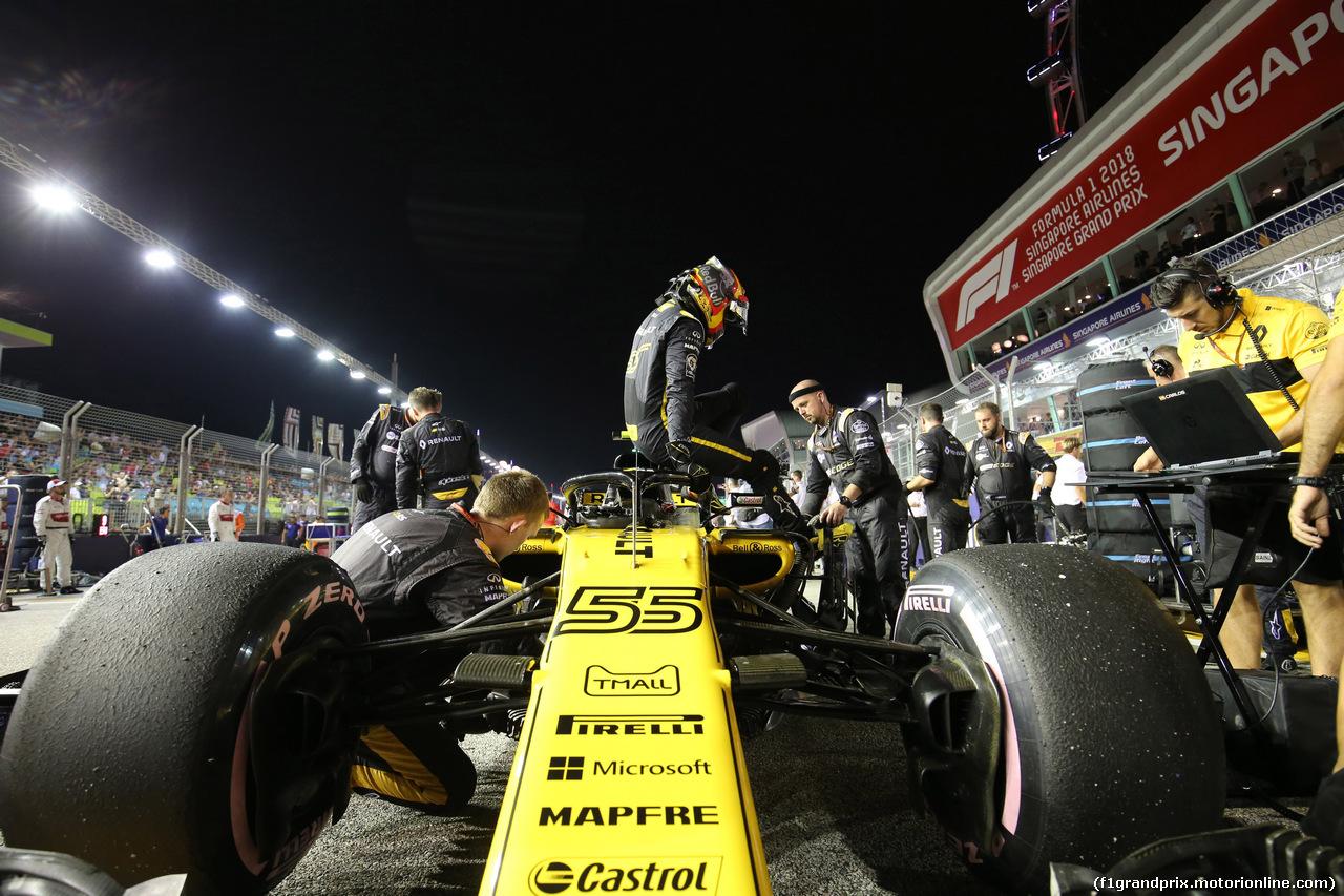 GP SINGAPORE, 16.09.2018 - Gara, Carlos Sainz Jr (ESP) Renault Sport F1 Team RS18
