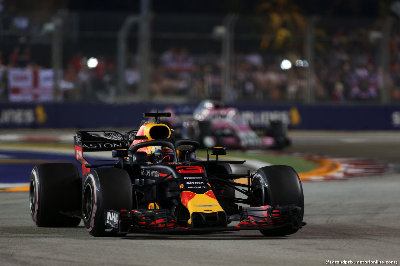 GP SINGAPORE, 16.09.2018 - Gara, Daniel Ricciardo (AUS) Red Bull Racing RB14