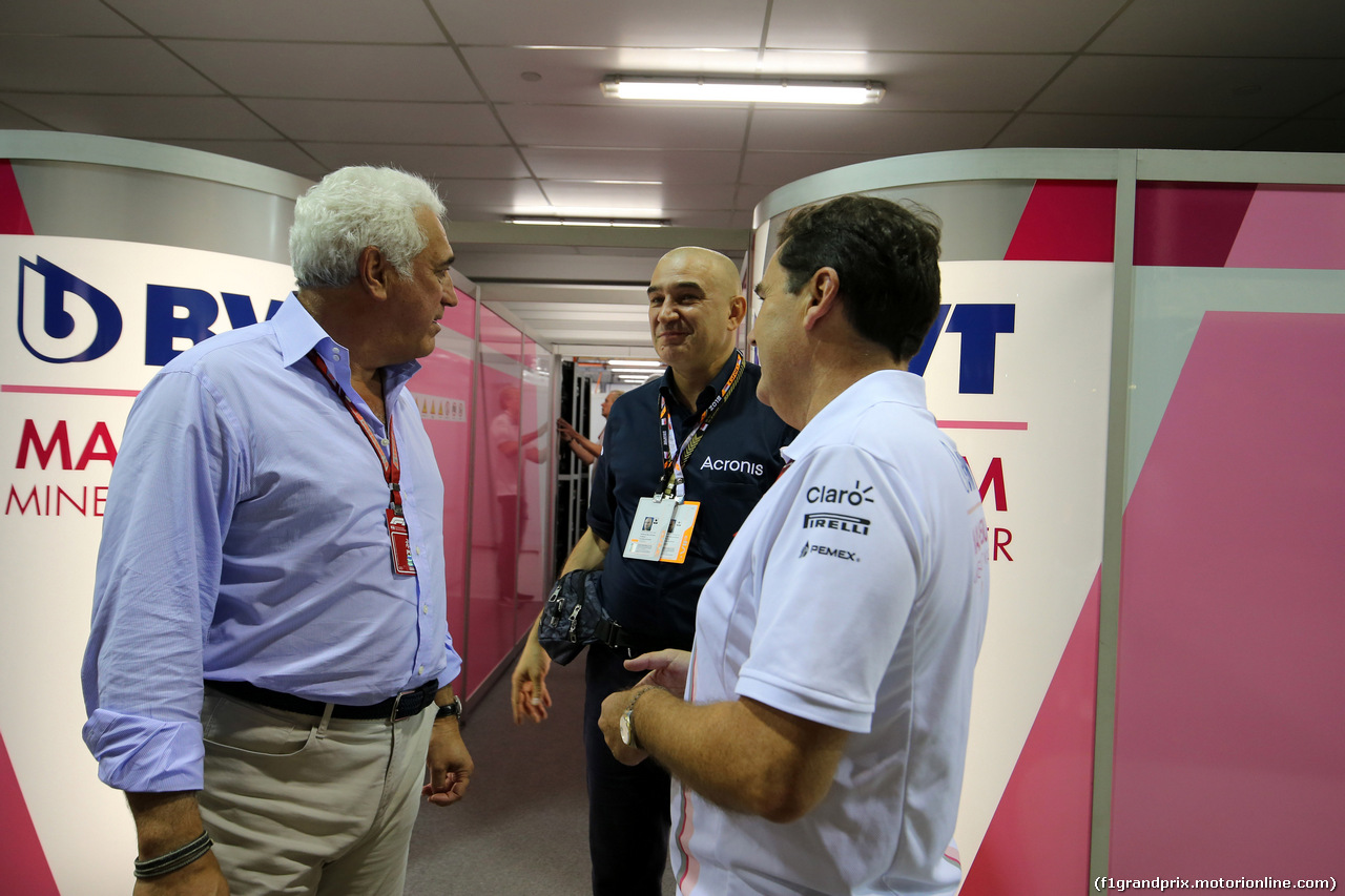GP SINGAPORE, 16.09.2018 - Gara, Lawrence Stroll (CAN) Racing Point Force India F1 Team Investor