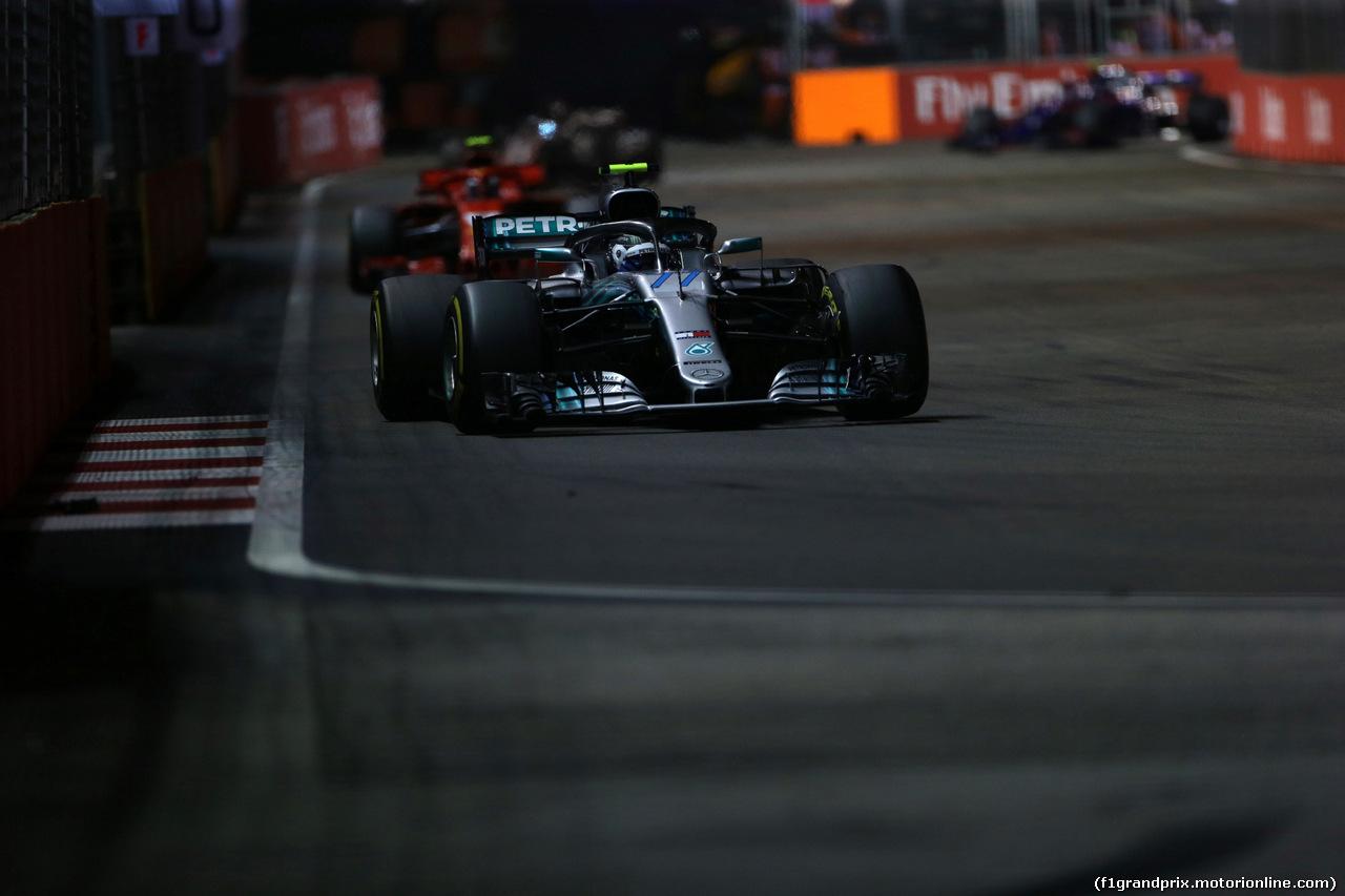 GP SINGAPORE, 16.09.2018 - Gara, Valtteri Bottas (FIN) Mercedes AMG F1 W09