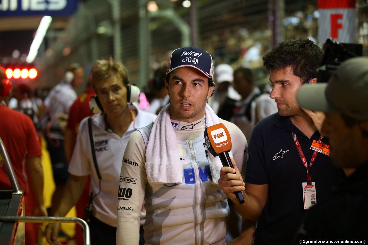 GP SINGAPORE, 16.09.2018 - Gara, Sergio Perez (MEX) Racing Point Force India F1 VJM11