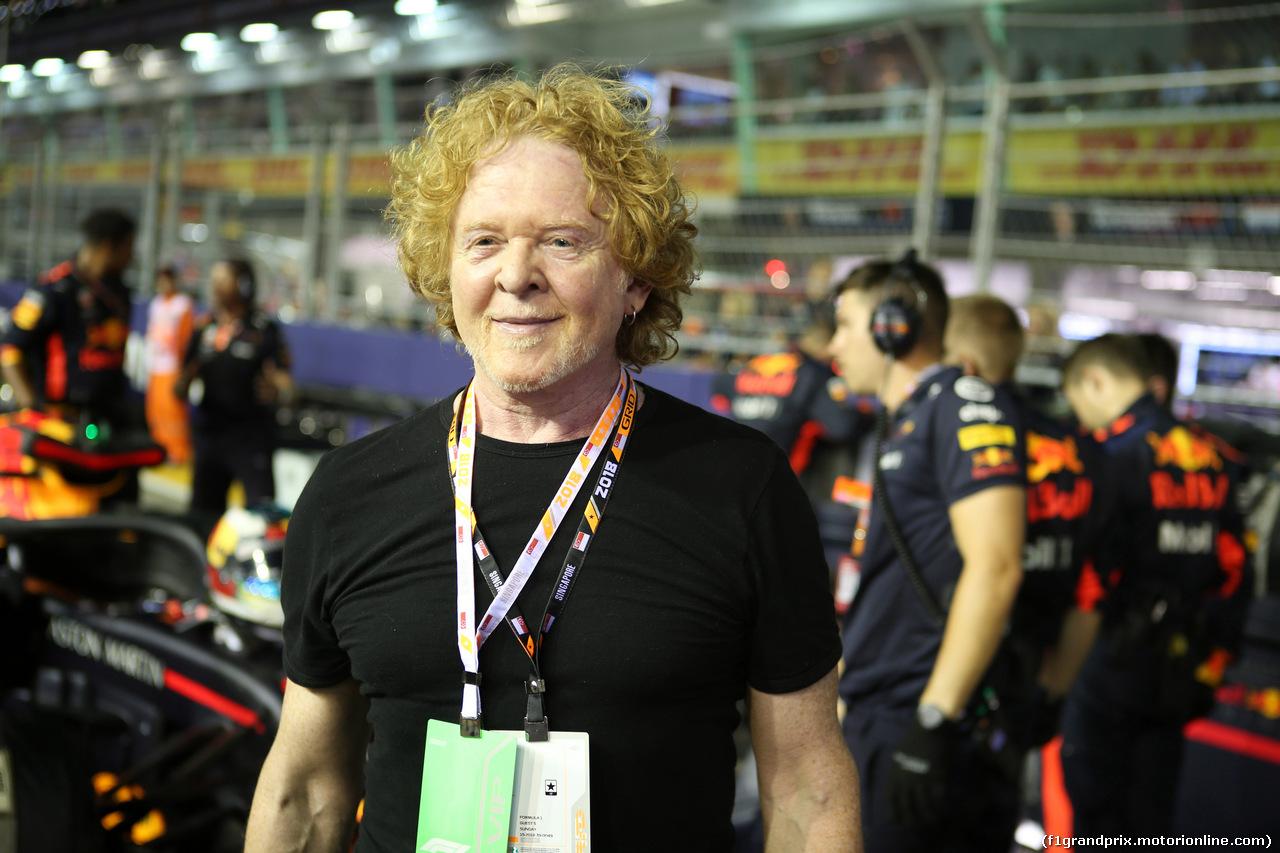 GP SINGAPORE, 16.09.2018 - Gara, Mick Hucknall (GBR) Simply Red