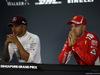 GP SINGAPORE, 15.09.2018 - Qualifiche, Conferenza Stampa, Lewis Hamilton (GBR) Mercedes AMG F1 W09 e Sebastian Vettel (GER) Ferrari SF71H