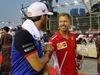GP SINGAPORE, 16.09.2018 - Pierre Gasly (FRA) Scuderia Toro Rosso STR13 e Sebastian Vettel (GER) Ferrari SF71H