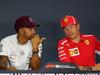 GP SINGAPORE, 13.09.2018 - Conferenza Stampa, Lewis Hamilton (GBR) Mercedes AMG F1 W09 e Kimi Raikkonen (FIN) Ferrari SF71H