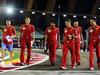 GP SINGAPORE, Sebastian Vettel (GER) Ferrari walks the circuit with the team. 13.09.2018.