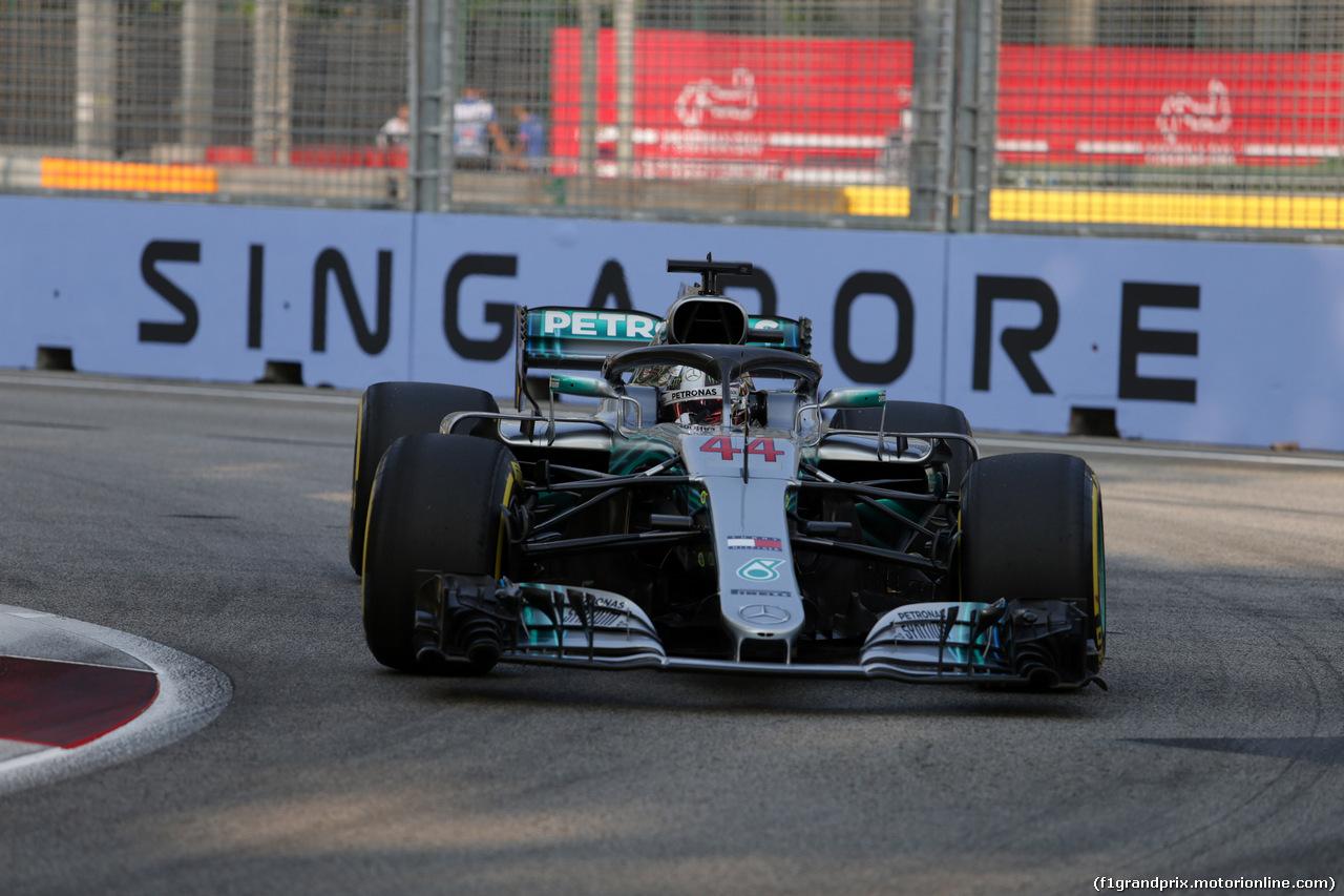GP SINGAPORE, 14.09.2018 - Prove Libere 1, Lewis Hamilton (GBR) Mercedes AMG F1 W09